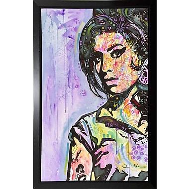East Urban Home 'Amy Winehouse' Graphic Art Print; Budget Saver Framed
