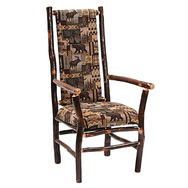 Fireside Lodge Hickory Arm Chair; Sierra Brown