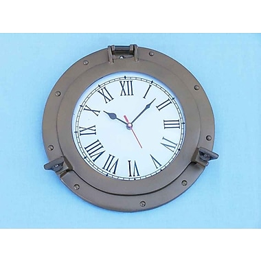 Longshore Tides Myah 8'' Analog Wall Clock; Antique Brass