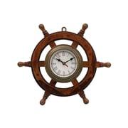 Longshore Tides Eberton 18'' Analog Wall Clock; Antique Brass