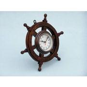 Longshore Tides Eberton 18'' Analog Wall Clock; Antique Copper