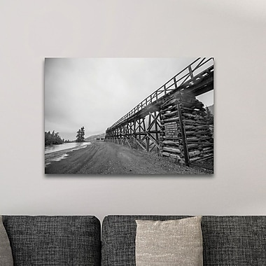 Loon Peak 'Old Railroad Bridge' Photographic Print; Metal