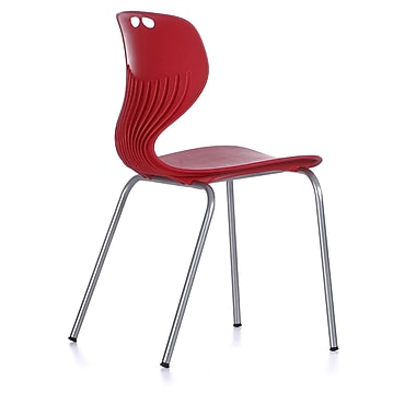 MiEN 18'' Plastic Classroom Chair; Charcoal