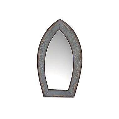 Highland Dunes Gussie Boat shaped Wall Accent Mirror; 24'' H x 12.5'' W x 3'' D