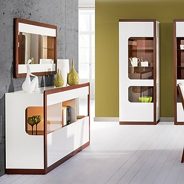 Latitude Run Dhiraj 1 Door Standard China Cabinet; Left Side