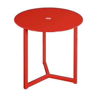 Orren Ellis Emmet End Table; Red