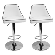 Orren Ellis Chontel 32'' Swivel Bar Stools (Set of 2); White