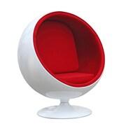 Orren Ellis Cristhian Kids Chair; Red