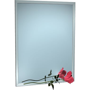 Red Barrel Studio Bolingbrook Angle Stainless Steel Inter Frame Vanity Mirror; 60'' H x 24'' W