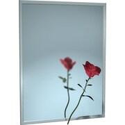 Red Barrel Studio Bookman Stainless Steel Vanity Mirror; 48'' H x 24'' W