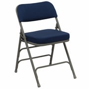 Offex Hercules Series Plastic/Resin Padded Folding Chair; Navy