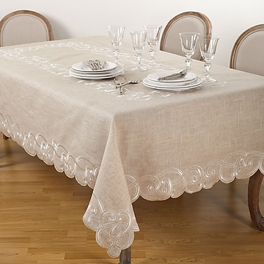 One Allium Way Bemadette Embroidered Tablecloth; 67'' x 160''