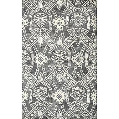Ophelia & Co. Marcarthur Hand Tufted Wool Black/Ivory Area Rug; 8' x 10'