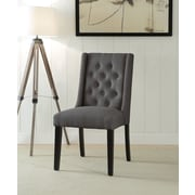Ophelia & Co. Yodani Upholstered Dining Chair (Set of 2); Stone Gray