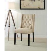 Ophelia & Co. Yodani Upholstered Dining Chair (Set of 2); Tan