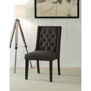 Ophelia & Co. Yodani Upholstered Dining Chair (Set of 2); Black