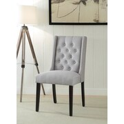 Ophelia & Co. Yodani Upholstered Dining Chair (Set of 2); Light Gray