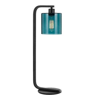 Williston Forge Sheena 26'' Table Lamp; Teal