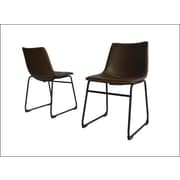 Williston Forge Stephania Upholstered Dining Chair (Set of 2); Coffee