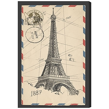Williston Forge 'Eiffel Post' Graphic Art on Wrapped Canvas; 36'' H x 24'' W x 1.5'' D