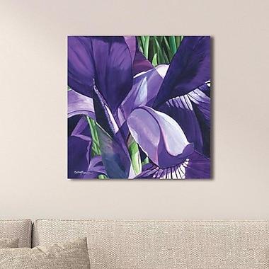 Red Barrel Studio 'Heart of a Purple Iris' Oil Painting Print; Plexiglass