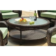 South Sea Rattan Key West Round Wicker Chat Table; Chocolate