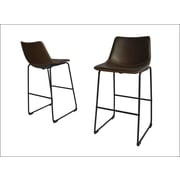 17 Stories Hailley 29'' Bar Stool (Set of 2); Coffee