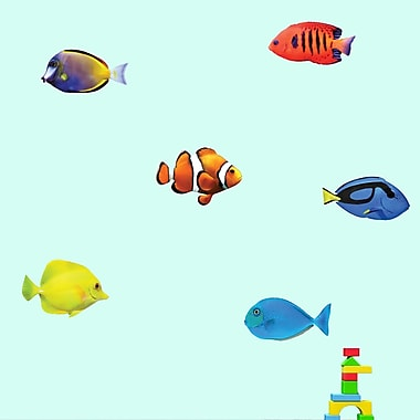 SweetumsWallDecals Real Life 6 Piece Fish Wall Decal Set; Medium