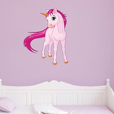 SweetumsWallDecals Punk Unicorn Wall Decal; 36'' H x 28'' W
