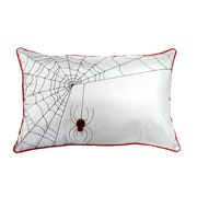 The Holiday Aisle Spider Web Lumbar Pillow; White