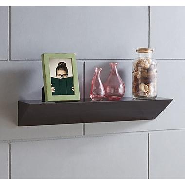 Varick Gallery Posada Triangular Ledge Floating Shelf; Walnut