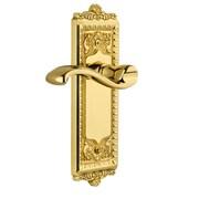 Grandeur Windsor Single Dummy Door Lever; Polished Brass
