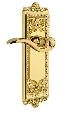 Grandeur Windsor Single Dummy Right Hand Door Lever; Polished Brass