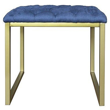 New Pacific Direct Avril Bonded Leather Square End Table; Blue