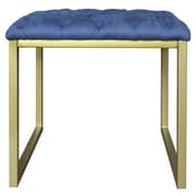 New Pacific Direct Avril Bonded Leather Square End Table; Blue by