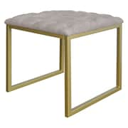 New Pacific Direct Avril Bonded Leather Square End Table; Beige by