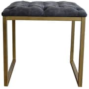 New Pacific Direct Avril Bonded Leather Square End Table; Gray by