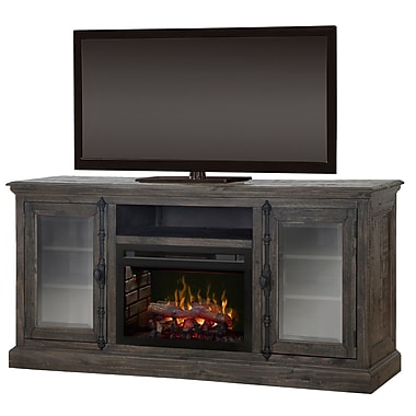 Dimplex Open Storage Space 68'' TV Stand w/ Fireplace; Realogs (XHD)