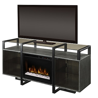 Dimplex Milo 67'' TV Stand w/ Fireplace; Realogs (XHD)