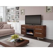 Dimplex Valentina 72'' TV Stand w/ Fireplace; Curved Glass