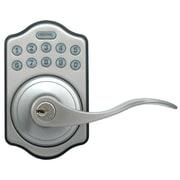 LockState Electronic Door Lever; Satin Nickel