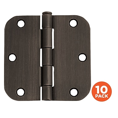 Design House 3.5'' H x 3.5'' W Butt/Ball Bearing Pair Door Hinges (Set of 10); Oil Rubbed Bronze
