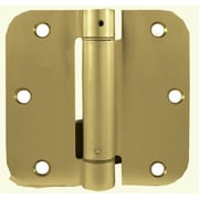 Verona Home Design 3.5'' H x 3.5'' W Self-Closing Single Door Hinge; Lite Brass