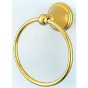 Kingston Brass Governor Wall Mounted Towel Ring; Polished Brass