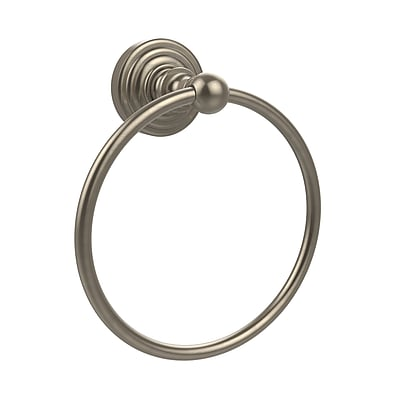Allied Brass Waverly Place Wall Mounted Towel Ring; Antique Pewter