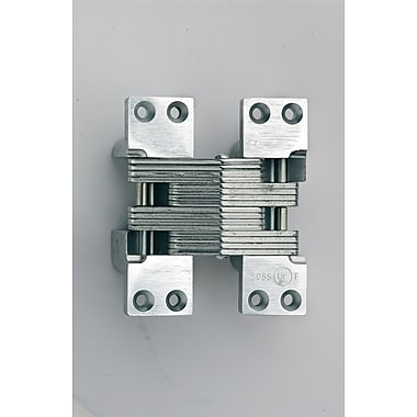 SOSS Invisible/Concealed Single Door Hinge; Satin Stainless Steel