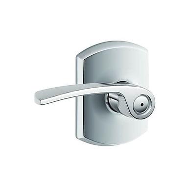 Schlage Merano F Series Privacy Door Lever w/ Greenwich Rosette; Bright Chrome