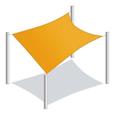 Aleko 12' Rectangle Shade Sail; Yellow