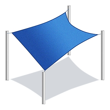 Aleko 10' x 6'5'' Rectangle Shade Sail; Blue