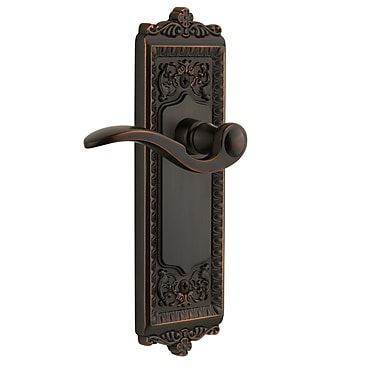 Grandeur Windsor Single Dummy Right Hand Door Lever; Timeless Bronze